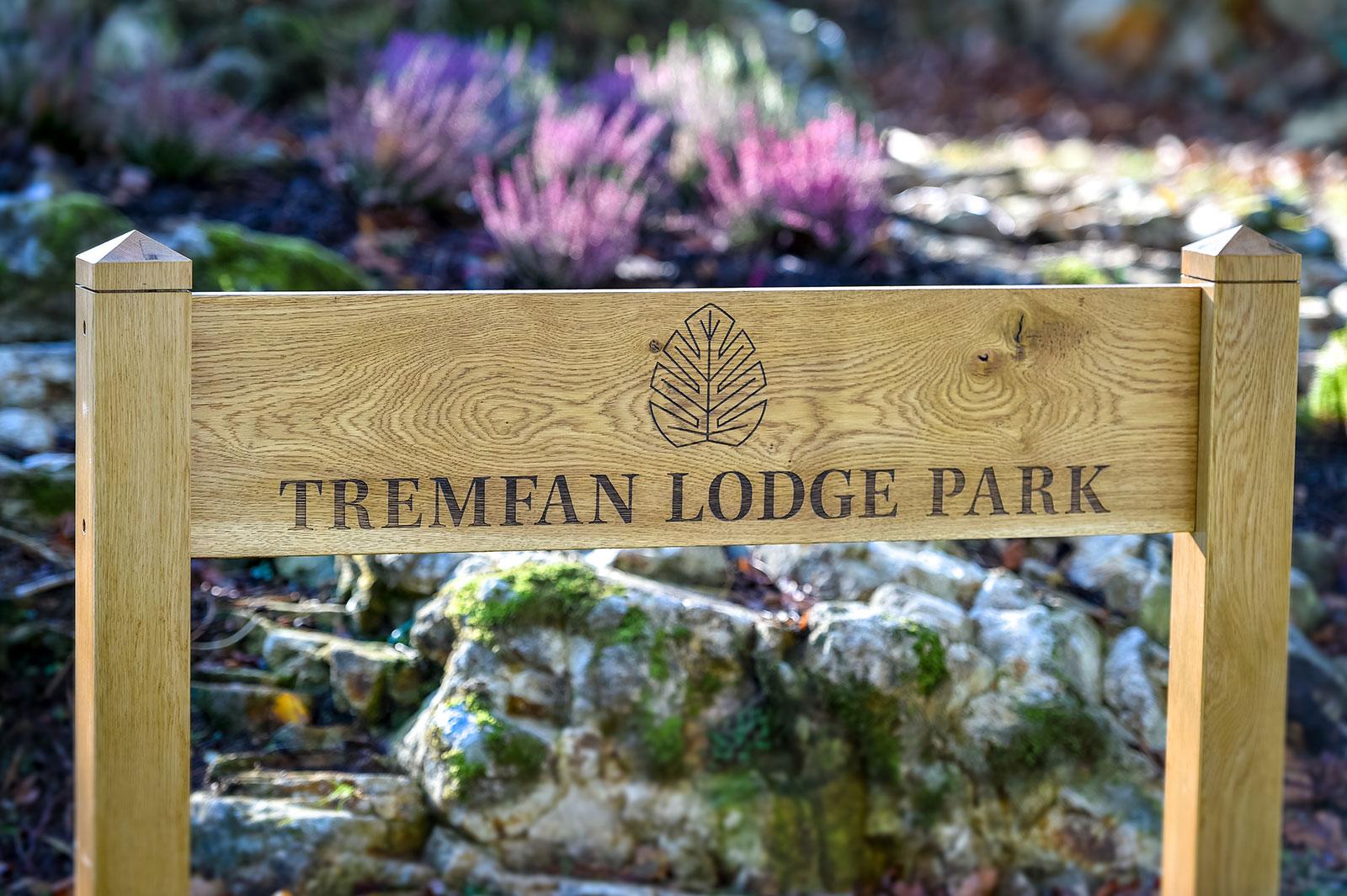 Tremfan Lodge Park sign